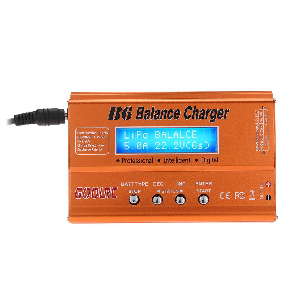 Original GoolRC B6 Mini Multi-functional Balance Charger/Discharger for LiPo Lilon LiFe NiCd NiMh Pb RC Battery(China (Mainland))