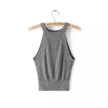 2015 New Sexy knitted Tank Bustier Fitness Crop Top Halter Women Brandy Melville Adventure Time Feminino Camisetas Tops 6 Color(China (Mainland))