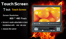 Free shipping universal single 1 one Din 7 inch Car DVD player GPS Navigation audio Radio