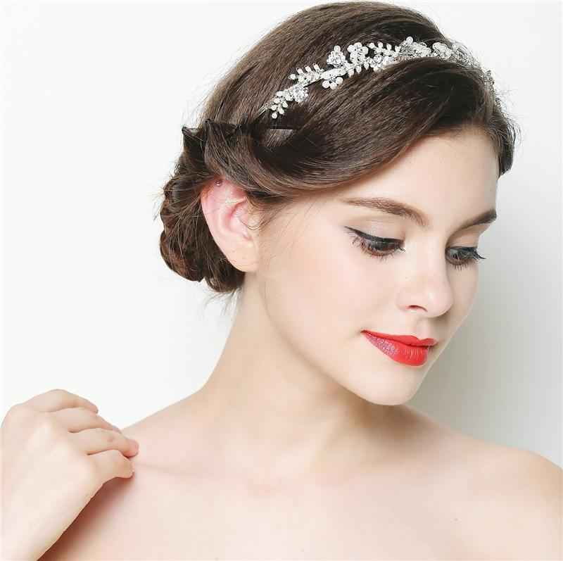 Pearl Crystal Gold Wedding Headband Hair Accessories Bridal Headwear Hair Jewelry Rhinestone Hairband Headpiece 2014 WIGO0316 <br><br>Aliexpress