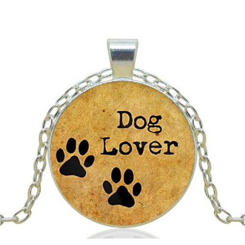 The Best Dog Paws Picture Pendant Necklace Dog Lover Punk Chain Choker Statement Necklace 2016 Jewelry Gifts For Women(China (Mainland))