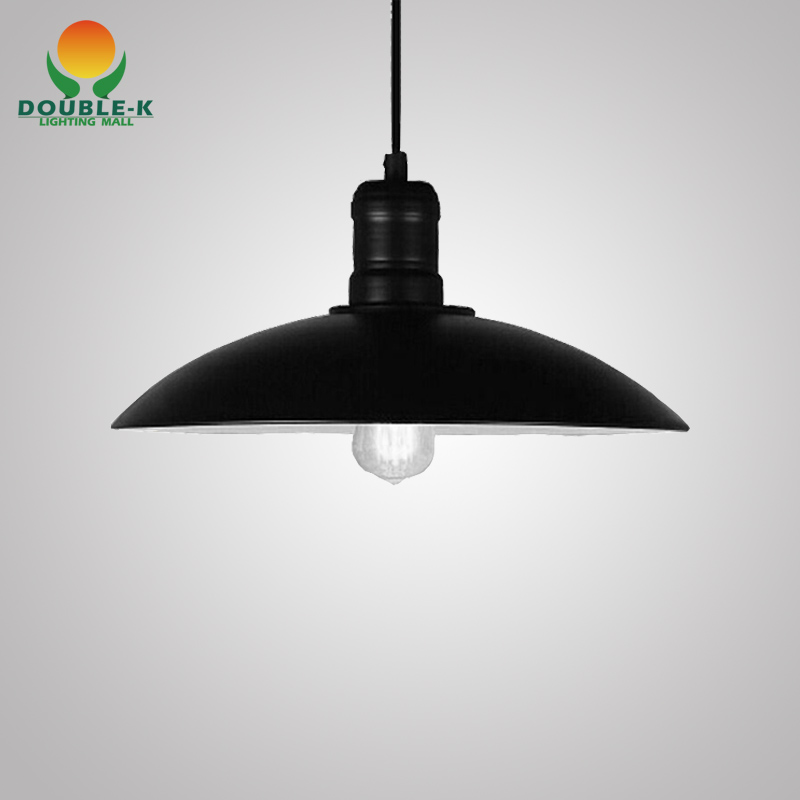 Black white iron vintage pendant lamp retro industrial diy for Diy edison light fixtures