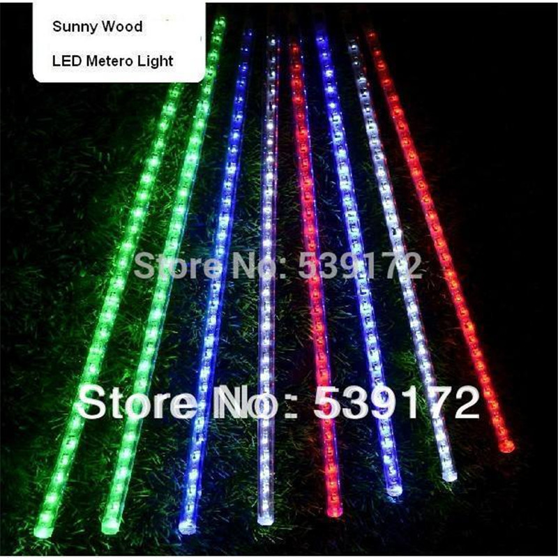 led christmas lights Free Shipping by Fedex LED meteor light Blue color, LED falling star mini type 30LEDs/pc 8pcs/set(China (Mainland))