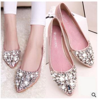 Женщины обувь сплошной патент полиуретан обувь женщины квартиры лето стиль балет ...