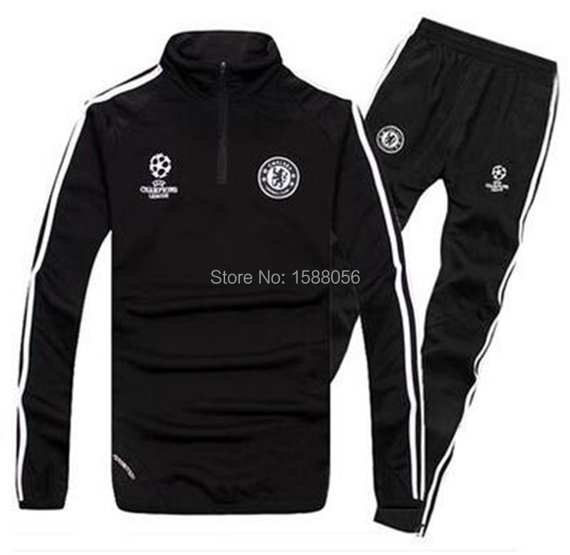 Chelsea Training Tracksuit Top A++Thai Quality Oscar Diego Costa Hombre Sport Hoodies Soccer Pants Chelsea Survetement Football (China (Mainland))