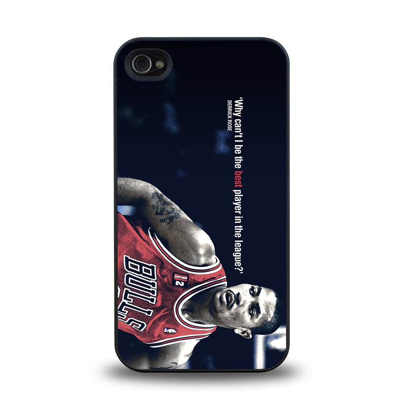 NBA player Chicago Bull No. 1 Derrick Rose #20 mobile phone battery case cover for iphone 4 4s cases covers plastic phone cases(China (Mainland))