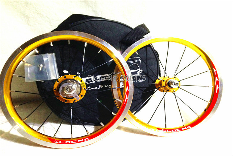 LDCNC wheel set BYA412 upgrade wheels set folding bike 14 inch lightest wheels lighter than mialo wheels(China (Mainland))