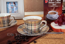Porcelain coffee set bone china tea set 15 pieces European coffee pot coffee jug saucer set