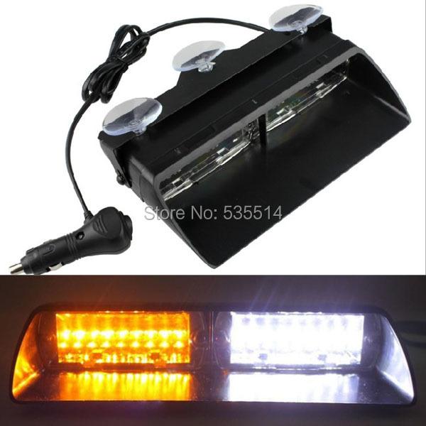 16 led warning caution van truck emergency strobe light lamp bar amber. Black Bedroom Furniture Sets. Home Design Ideas