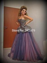 ph04535 myriam fares dresses Red Carpet Myriam Fares Hand Beaded ball gown Floor Length Celebrity Dress(China (Mainland))