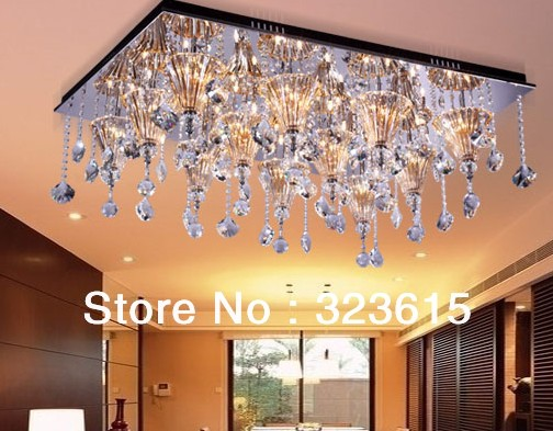 Modern Luxury Fashion Chrome K9 Crystal Ceiling Lamp Crystal Chandelier Light Living Room Study Room(China (Mainland))