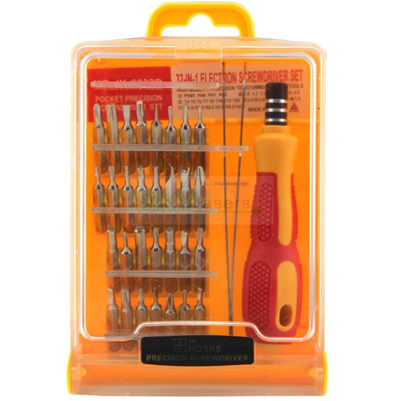 32 in 1 set Micro Pocket Precision Screw Driver Kit Magnetic Screwdriver cell phone tool repair box Wholesale(China (Mainland))