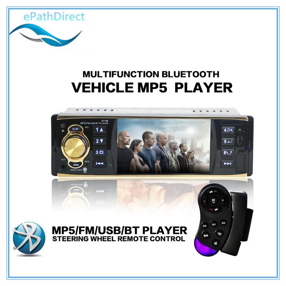 4.1'' inch HD1080P Car Radio Player 12V Rear View Camera Car Stereo FM Radio MP5 Player /Bluetooth /MP3 /MP4 /Audio Player