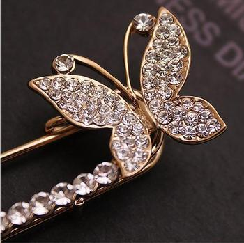 New Hot Butterfly Brooches Jewelry Crystal Classic Brooch Butterfly Clothing Accessories AH024