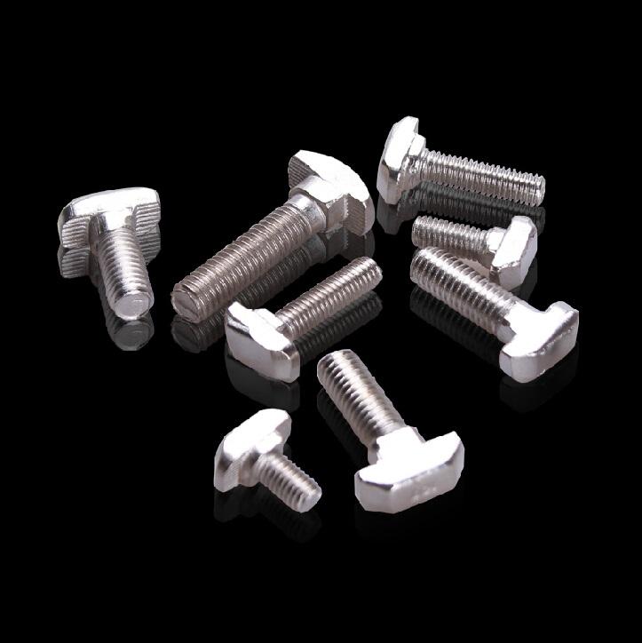 Hammer Head T Screw Bolt Fastener M8x16 for 4040 40x40 40*40 40 Aluminum Profile Slot Accessories<br><br>Aliexpress