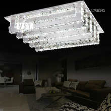 Japan Style Creative strip steel  crystal bedroom lamp LED Ceiling 100% quality guarantee free shipping L580xW450xH150mm(China (Mainland))