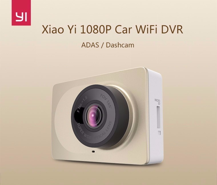 Original [English menu]Xiaomi YI Smart Car DVR WiFi Xiaoyi Dash Camera 165 Degree ADAS 1080P 60fps 2.7Inch  Free Shipping