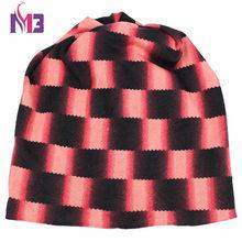 الخريف الشتاء المرأة قبعة صغيرة للجنسين محبوك البوليستر Skullies اثنين تستخدم الرقبة أدفأ قبعة عادية منقوشة تزلج Gorros قبعة(China)