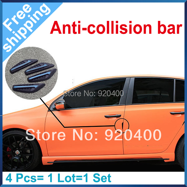 Environmental Silicone Car Door frame Protector Exterior accessory Anti-Rub Sticker for all of model Free Shipping(China (Mainland))