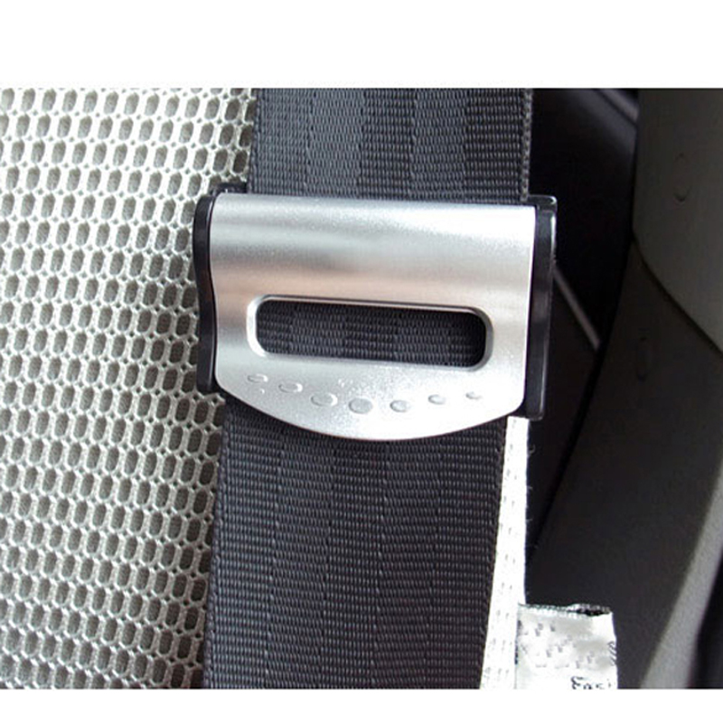 Free Shipping 2pcs Seatbelts Clips Safety Stopper Auto Belt Clips for Vehicles Silver ME3L<br><br>Aliexpress