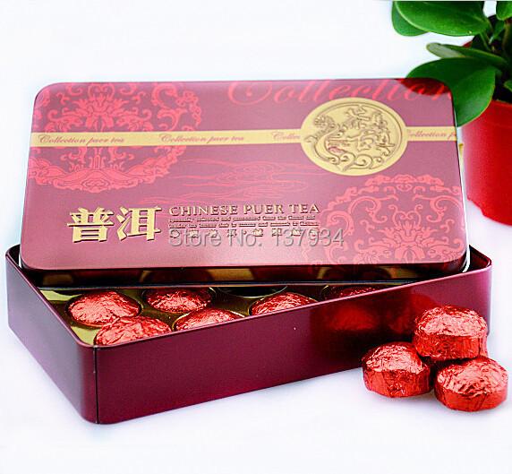 Hot Sale Black tea Rose Fragrant Pu er Ripe Puer Tea Chinese Mini Puerh Tea Gift
