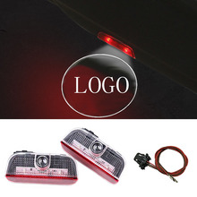 2X LED Door Warning Light Logo Projector vw Passat b6 b7 Tiguan Jetta MK5 MK6 cc eos golf 5 6 7 - Bald strong car store