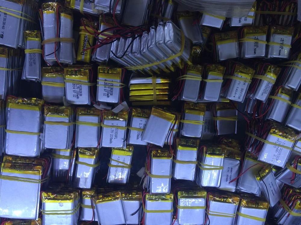 3.7V lithium polymer battery / 1500mAh / MP3 / MP4 / GPS navigation / handheld instrument batteries / 563,763(China (Mainland))
