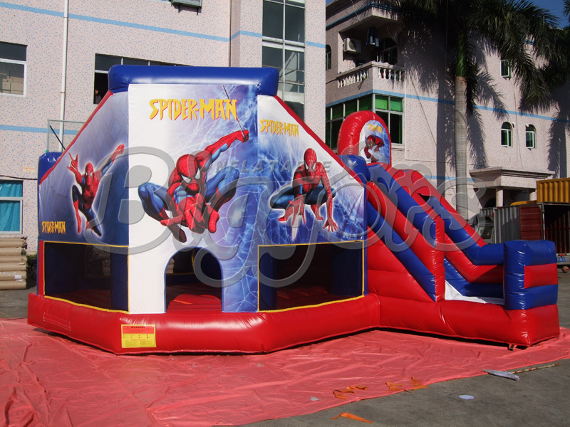 High Quality 2015 Combo Inflatable Spiderman Jumping Bouncer Slide For Children(China (Mainland))