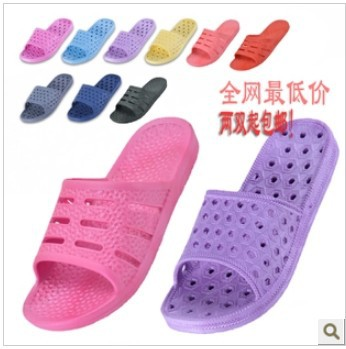 Free shipping New Women Slide Anti Slip Sandals lady House Shoes Open-toed footwear Hollow Out Clog Foldable Home Slipper Shoes(China (Mainland))