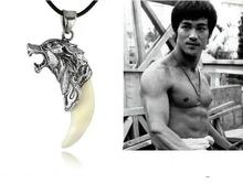 Trendy Brave Wolf Tooth Necklace Titanium Steel Domineering Pendant Jewelry(China (Mainland))