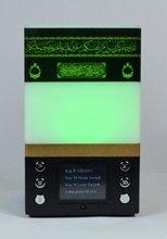 Musulmano orologio azan lampada da tavolo led light come corano giocare lettura del quran islam ramadan regali kaaba preghiera orologio digitale corano player(China (Mainland))