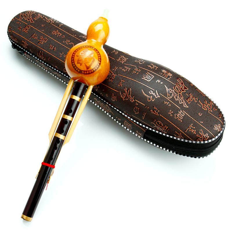 Cucurbit Flute For Beigner Flauta Woodwind Instrumento Musical Instrument Hulusi Professional Handmade Calabash Flauto(China (Mainland))