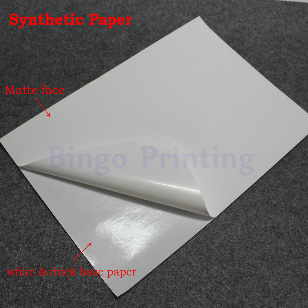 Waterproof polymer paper synthetic blank
