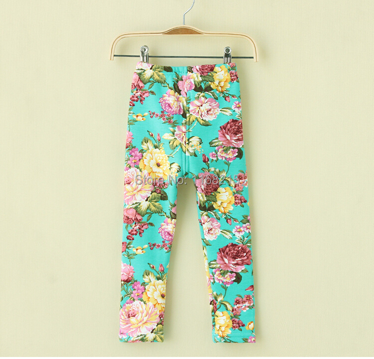 Baby Girls Winter Pants 100% Cotton Warm Baby leggings Flower Pants Warp-knitted Velvet Casual Trousers<br><br>Aliexpress