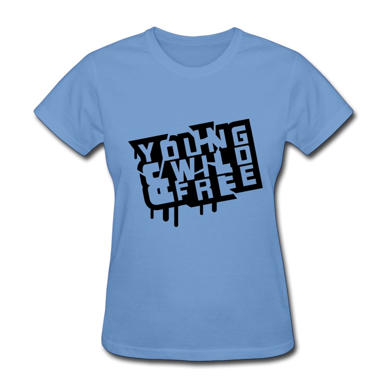 Unique Design Solid Women 39 S Tee Shirt Young Wild Free