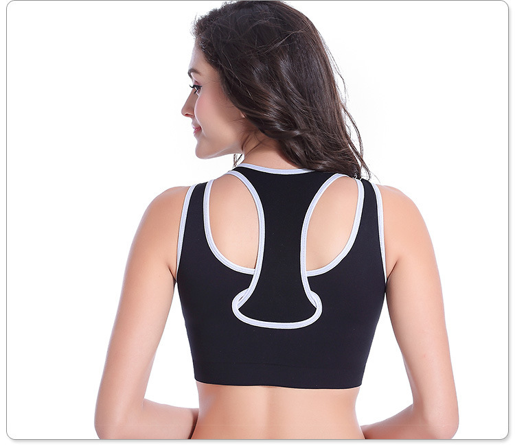 HOT SEXY False two patchwork top vest women sports bra Shockproof seamless running jogging Gym fitness Women bras Free shopping(China (Mainland))