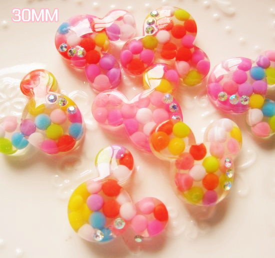 Free shipping 20pcs resin Accessories for DIY Life decoration Mickey (HDX006)()