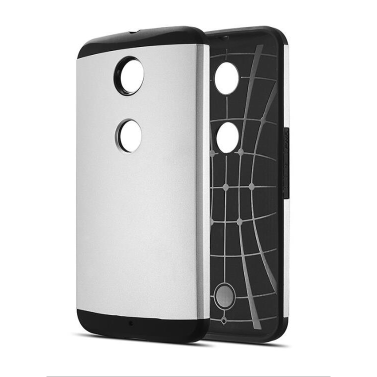 Luxury Brand Armor Case For Motorola Nexus 6 Dual Layer Hybrid Accessories Tough Logo Armor Hard Back Cover for google nexus 6(China (Mainland))