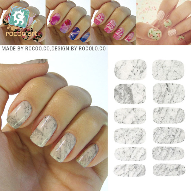 Graphic Marble Design Nail Sticker