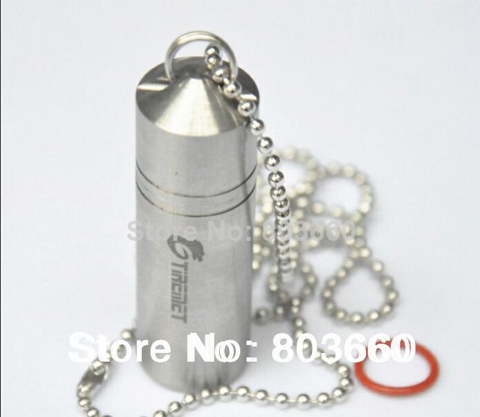 Tiremet Titanium Ti Waterproof Box Capsule / Tablet / Pill / AAA Battery Container Travel Outdoor Kit (Pinnacle)(China (Mainland))