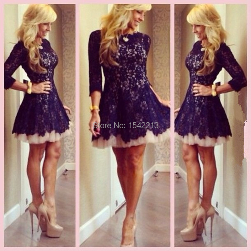 Online Buy Wholesale navy blue tulle cocktail dress from China ...