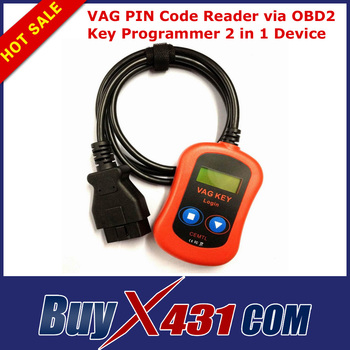 2014 Top-Rated VAG PIN Code Reader Key Programmer 2 in 1 Device via OBD2 Diagnostic Connector + HKP Free Shipping