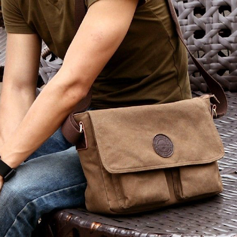 2014 new fashion men classic vintage outdoor hiking military messenger bags students school travel messenger bags#HW03021(China (Mainland))