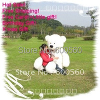 Fancytrader White Color Giant Plush Stuffed Teddy Bear 3 Colors 78 INCHES (200cm) Free Shipping FT90056