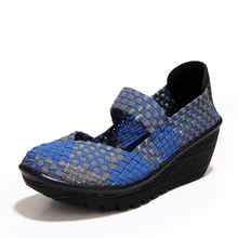 Wedges Platform Shoes Women Women Casual Shoes Female Comfortable Spring And Summer Handmade Knit Shoes #B2585