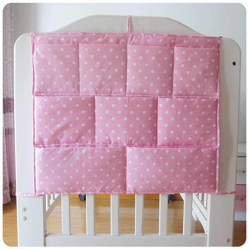 Good Quality Cheap Price Baby Crib Accessories,Thick and Smooth Toddler Bed Hanging Pockets Fabrics,Kids Diaper Storage Bag(China (Mainland))