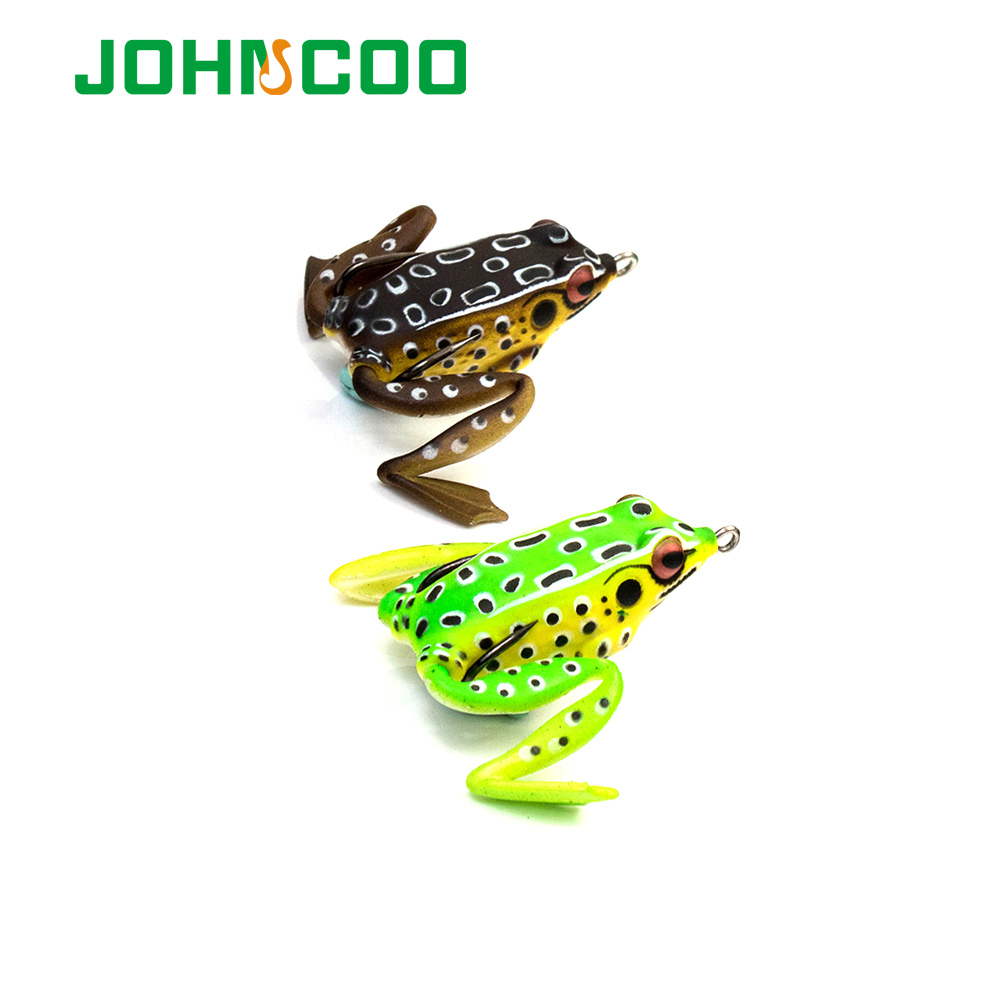 JOHNCOO Quality Kopper Artificial Bait Fishing Lure Soft Frog Lure 50mm 11g Frog Soft Plastic Snakehead Lure Simulation Frog(China (Mainland))