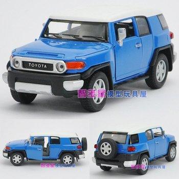 1:32Soft world TOYOTA cruiser WARRIOR alloy car model toy Blue