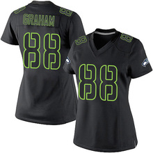 Women's #88 Jimmy Elite Black Impact jersey 100% stitched(China (Mainland))