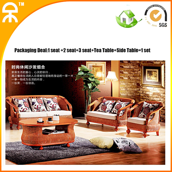 (1+2+3+tea table +side table /lot)leisure rattan sofa factory directly sales CE-1002(China (Mainland))